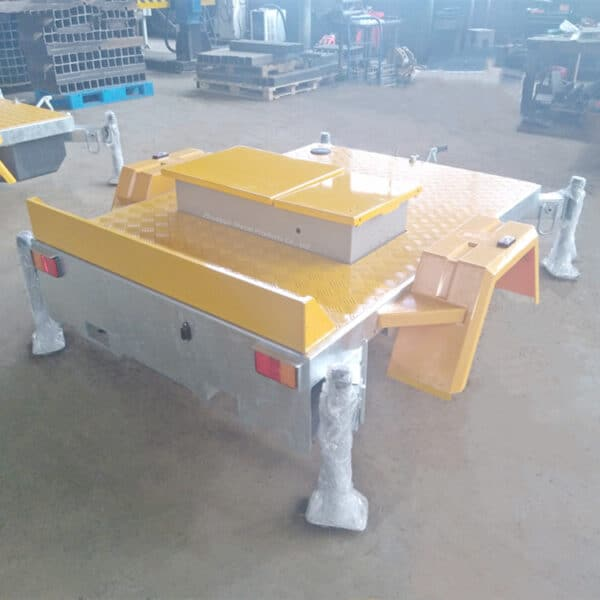 trailer frame with tool box